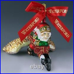 Waterford Crystal Holiday Heirlooms NORTHERN FLIGHT Santa on Goose LE Ornament