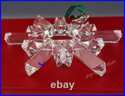 Waterford Crystal Jim O'LEARY 20th Anniversary Ornament 2004 Snow Star style