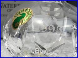 Waterford Crystal Lot Of 2 Vintage Annual Ball Christmas Ornaments Collectibles