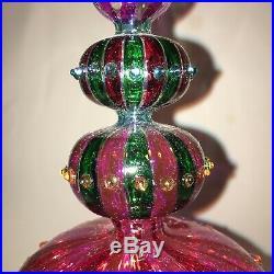 Waterford Crystal Marquis VENETIAN Carnivale Tree Topper Xmas Star 11 Amethyst
