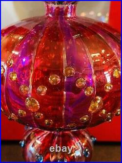 Waterford Crystal Marquis VENETIAN Tree Topper Xmas Star 11 Amethyst with Box