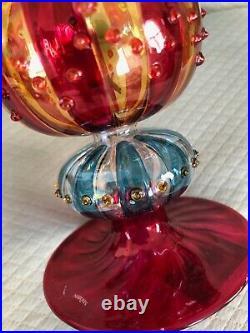Waterford Crystal Marquis Venetian Carnivale Grande Xmas Tree Topper Star 15.5