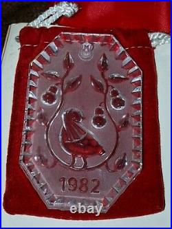 Waterford Crystal Ornament 12 Days of Christmas 1982 RARE VINTAGE collectible