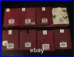 Waterford Crystal Ornament Lot of 8 of 12 days of Christmas withOriginal Boxes