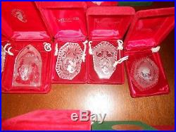 Waterford Crystal Ornaments 12 Days Of Christmas & Others 1981-2005 Lot Of 25