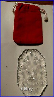 Waterford Crystal Partridge In A Pear Tree Christmas Ornament 1982 1st In Series