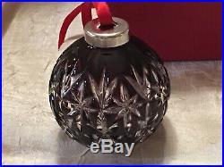Waterford Crystal, Rare 2001 Amethyst Ornament Purple Clear Christmas Ball, Mib