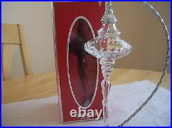 Waterford Crystal Rare 2004 Mib Snow Crystals Spire Ornament Beautiful Htf