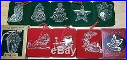 Waterford Crystal Set of 10 Christmas Memories Ornaments 1992 2001
