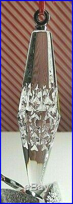 Waterford Crystal Set of 3 Icicle Christmas Tree Ornaments! NIB
