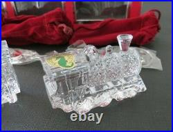 Waterford Crystal TRAIN ORNAMENT Set of 4 New in Box