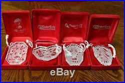 Waterford Crystal Twelve Days of Christmas 1982-1995 Complete Set of Ornaments