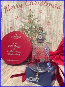 Waterford Crystal Twelve Days of Christmas Bell Ornament- Eleven Pipers Piping