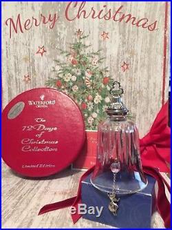 Waterford Crystal Twelve Days of Christmas Bell Ornament- Nine Ladies Dancing