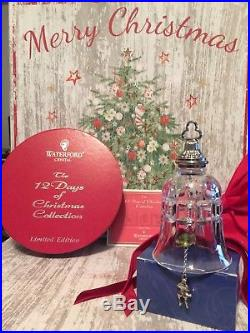 Waterford Crystal Twelve Days of Christmas Bell Ornament- Ten Lords-a-Leaping