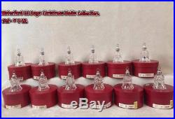Waterford Crystal Twelve Days of Christmas Bell Ornaments- Collection #1-12