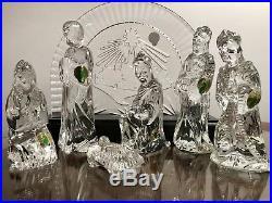 Waterford Crystal XMAS Nativity Set Mary Joe Jesus Creche Wisemen Master O'Leary