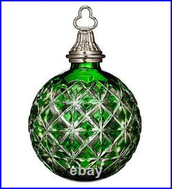 Waterford Emerald Green Cased Ball Ornament 2014 Annual #164579 New In Box