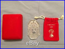 Waterford Lead Crystal Glass 1982 Christmas Ornament Decoration withsac & box