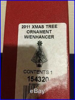 Waterford Ornament Crystal 2011 Christmas Tree Ornament WithEnhancer NIB