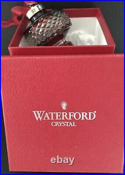 Waterford Ruby Red Cased Crystal Christmas Ornament 2002 Signed and Dated