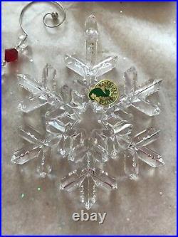 Waterford Snow Crystals 2006 Annual Snowflake Snow Flake Ornament Nib