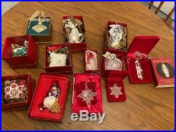 Waterford crystal christmas ornaments lot of 12