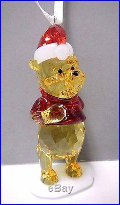 Winnie The Pooh Christmas Ornament Disney Crystal 2014 Swarovski Xmas #5030561