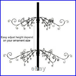 Wrought Iron Christmas Tree Metal Ornament Display Stand 174 Hook 84H